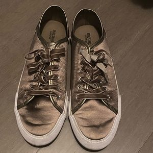 Satin Sneakers with Velvet Laces